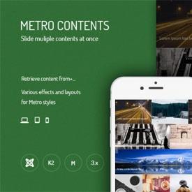 نمایش تصاویر به سبک مترو با JUX Metro Contents