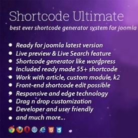 نهایت زیبایی و کاربرد با پلاگین حرفه ای Shortcode Ultimate joomla