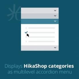 نمایش مجموعه های هیکا شاپ با SKYLINE HIKASHOP ACCORDION