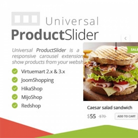 افزونه اسلاید محصولات فروشگاهی با UNIVERSAL PRODUCT SLIDER