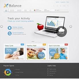 قالب زیبای شرکتی ، سلامتی ، ورزشی و پزشکی YOOtheme Balance