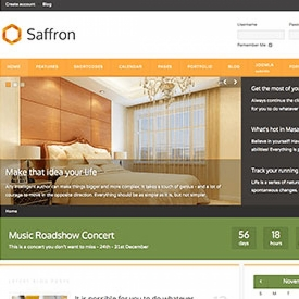 قالب جذاب و شرکتی Saffron با طراحی متریال و تخت