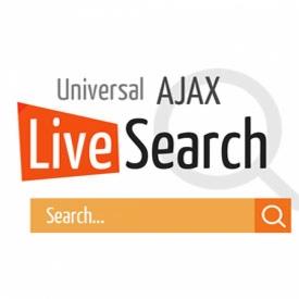 افزونه محبوب جستجوی زنده UNIVERSAL AJAX LIVE SEARCH